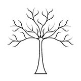 Tree dry isolated icon Stock Photography