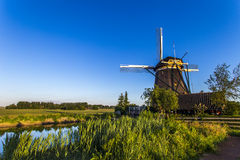 Tree Dutch Windmills Royalty Free Stock Photos