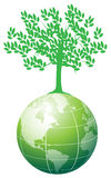 Tree on earth. Illustration of tree save on the earth Royalty Free Stock Photo