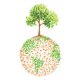 Tree on earth Stock Photos