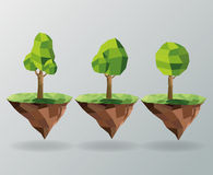 tree and earth icon. Polygonal image.  graphic Stock Image