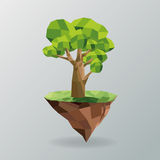 tree and earth icon. Polygonal image.  graphic Stock Photo