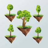 tree and earth icon. Polygonal image.  graphic Stock Images