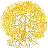 Tree with earth illustration in ecology concept theme. Save plan Royalty Free Stock Photography