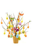 Tree with Easter Eggs Stock Photos