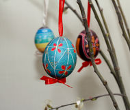 Tree with Easter eggs Royalty Free Stock Photos