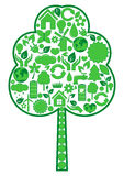 Tree of eco icons Stock Image