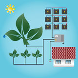 Tree energy. Eco generator. Green energy. Stock Photos