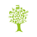 Tree with enviroment of recycle and ecology Stock Photo