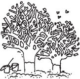 Tree and environment. And fertilizing issues royalty free illustration