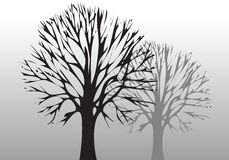 Tree and environment. Hand drawn illustration of Tree and environment Royalty Free Stock Photo
