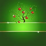 tree för äpplekortmagi Arkivfoto