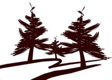 tree för 0041 symboler vektor illustrationer