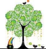 tree för 2 dag patrick s st royaltyfri illustrationer