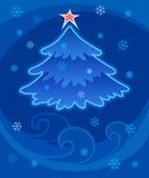tree för 2 jul vektor illustrationer
