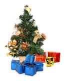 tree för 2 julgåvor Arkivbilder