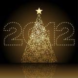 tree för 2012 jul stock illustrationer