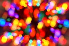 tree för bakgrundsjullampor Royaltyfri Fotografi