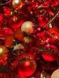 tree för bakgrundsjulred Royaltyfri Foto