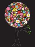 tree för blommapopfjäder royaltyfri illustrationer