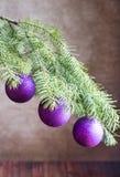 tree för filialjulprydnadar Royaltyfri Fotografi