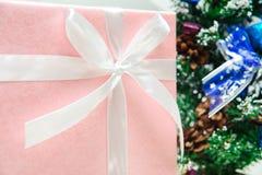 tree för främre gåvor för jul rosa Arkivfoto