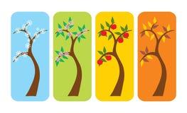 tree för fyra säsonger stock illustrationer