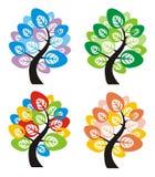 tree för fyra säsonger Arkivbild
