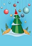 tree för 2 jul Royaltyfria Foton