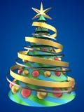 tree för jul 3d royaltyfri illustrationer
