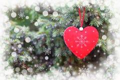 tree för julhjärtared royaltyfri foto
