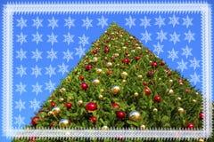 tree för kantjulsnowflakes Royaltyfria Foton