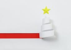 tree för red för papper för bakgrundsjulillustration Royaltyfria Bilder