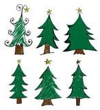 tree för set för juldesignelement Royaltyfria Foton