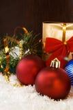 tree för snow för julgranprydnad Arkivbilder