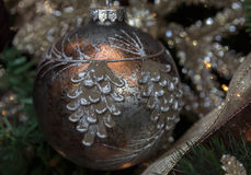 tree för snow för prydnad för godisrottingjul Royaltyfria Bilder