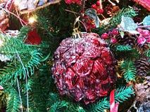 tree för snow för prydnad för godisrottingjul Arkivbilder