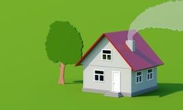 tree för toy för sur för rök för grönt hus för akryl Royaltyfri Foto