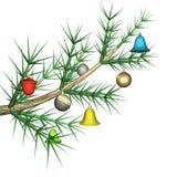 tree för toys för filialgran mångfärgad Arkivbild