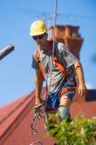Tree Feller at work Royalty Free Stock Photos