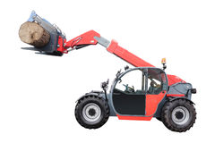 Tree-felling machine. The image of tree-felling machine stock images