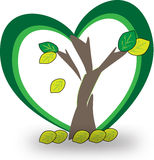 A tree  logo icon. We all love tree so stand side by side to protect it Royalty Free Stock Image
