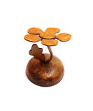 Tree figurine made ​​of wood Stock Photos