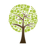 Tree finance. Over white bacckground vector illustration Royalty Free Stock Photos