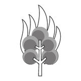 Tree on fire icon. Simple flat design tree on fire icon  illustration Royalty Free Stock Photos