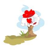 Tree flag of Canada Royalty Free Stock Photos