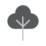 Tree Flat Vector Icon. Tree Icon in trendy flat style isolated on whie background. Tree symbol for your web design, logo, UI. Vector illustration, EPS10 Stock Images