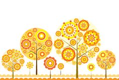 Tree floral background, vector Royalty Free Stock Photos