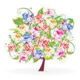 Tree from flowers Royalty Free Stock Photography