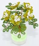 Tree with flowers, beadwork Stock Photos